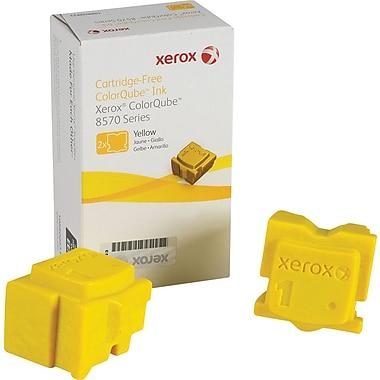 Xerox® – Bâtons d'encre solide Colour Qube 108R00928, jaune, paq./2
