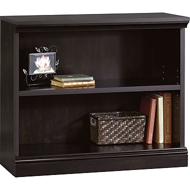 Sauder Premier 2-Shelf Composite Wood Bookcase, Estate Black