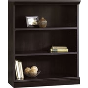 Sauder Premier 3-Shelf Composite Wood Bookcase, Estate Black