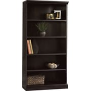 Sauder Premier 5-Shelf  Composite Wood Bookcase, Estate Black