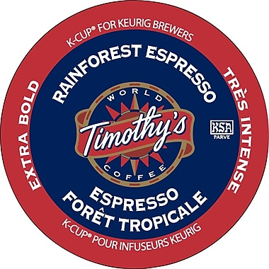 Timothy's Rainforest Espresso Coffee K-Cup Refills