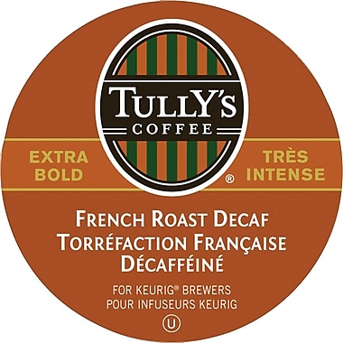 Tully's Coffee French Roast Decaf K-Cup Refills