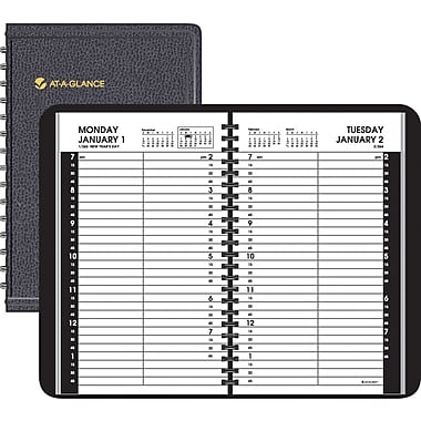 "2014 AT-A-GLANCE® Daily Appointment Book, 15 Minute Intervals, 4 7/8"" x 8"""