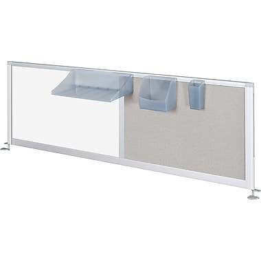 Balt® IFlex Privacy Panel, 17in. x 58in., Porcelain/Vinyl Combination