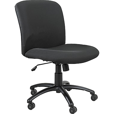 Safco Uber Mid-Back Fabric Task Chair, Armless, Black