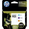 HP 951 Color Ink Cartridges, C/M/Y, Combo Pack (CR314FN)