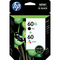 HP 60XL/60 High Yield Black and Standard Tricolor Ink, (CZ137FN#140) Combo 2 Pack