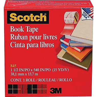 Scotch® Book Tape 845, 1 1/2in. x 15 yds, 3in. Core