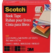 Scotch® Book Tape 845, 1 1/2 x 15 yds, 3 Core