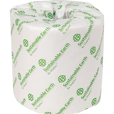 Sustainable Earth by Staples™ Standard Bath Tissue, 2-Ply, White, 80/Case