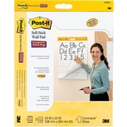 Post-it® Super Sticky 20x23, Self-Stick Wall Pads, White, 2/Pack