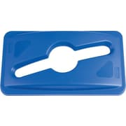 "Rubbermaid Slim Jim® Single Stream Recycling Top for Slim Jim® Containers, Blue, 5 2/5""H x 12 1/10""W x 21 1/10""L"