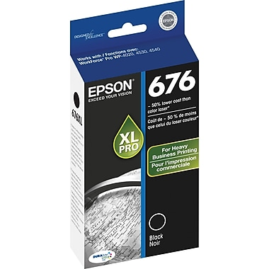 Epson 676XL Black Ink Cartridge (T676XL120), High Yield