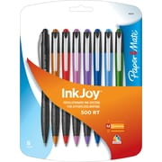 Paper Mate® InkJoy™ 500 Ballpoint Retractable Pens, Medium Point, Assorted, 8/Pack