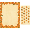 Painted Maple Leaves Letterhead with Seals
