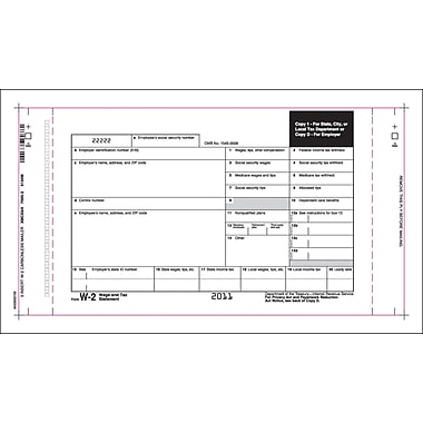 TOPS® W-2 Tax Form, 4 Part, Mailer, White, 10 1/4