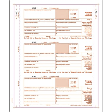 TOPS™ 1098 Tax Form, 3 Part, White, 9in. x 3 2/3in., 102 Forms/Pack