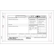 TOPS W-2 Tax Form, 3 Part, Continuous Employee Set, White, 9 1/2 x 5 1/2, 100 Forms/Pack