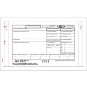"TOPS® W-2 Tax Form, 4 Part, Continuous Employee Set, White, 9 1/2"" x 5 1/2"", 100 Forms/Pack"