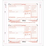 TOPS W-2 Tax Form, 3 Part, Carbonless employee/employer set, White, 9 1/2 x 5-1/2, 100 Forms/Pack
