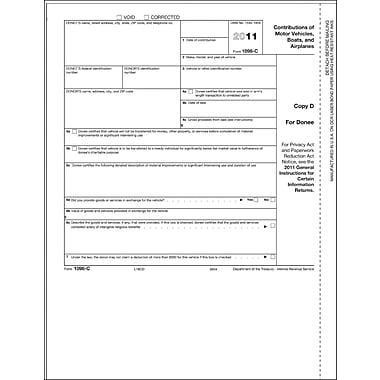TOPS 1098C Tax Form, 1 Part, White, 8 1/2in. x 11in., 50 Sheets/Pack