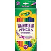 Crayola® 68-4302 Watercolor School Grade Woodcase Pencil, Assorted, Dozen