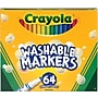 Crayola 58-8764 Washable Marker, Conical Tip, Assorted