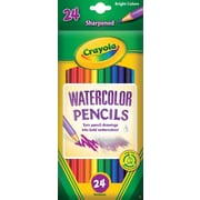Crayola® 68-4304 Watercolor Woodcase Pencil, Assorted, 24/Pack