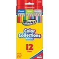 RoseArt Color Collections Colored Pencils, Classic/Neon/Metallic Assorted, 12/Pack