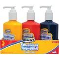RoseArt Finger Paints, Pump Top Bottle, Primary Colors, 3/Pk