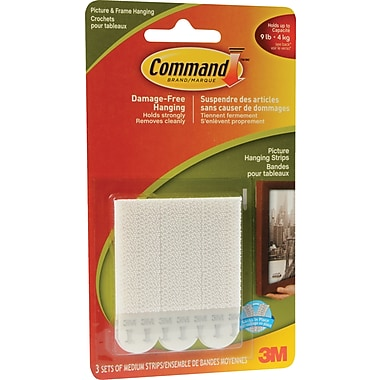 Command™ Picture Hanging Strips, Medium, 3/Pack