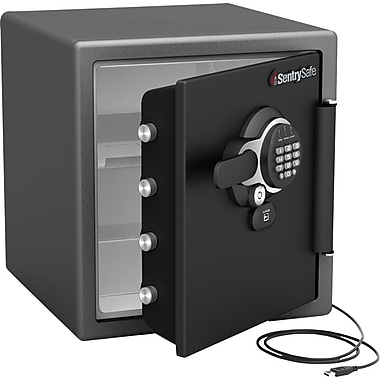 Sentry 1.2 cu. ft. USB Connected Water/Fire-Resistant Electronic Lock Safe