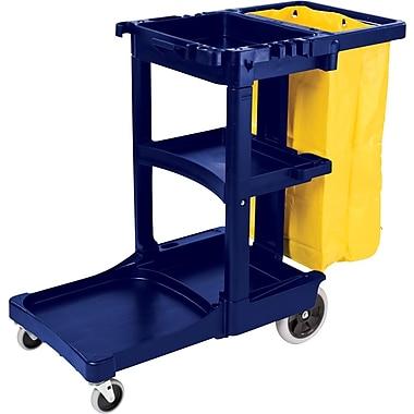 Rubbermaid® - Chariot de nettoyage et d'entretien avec sac en vinyle à fermeture à glissière