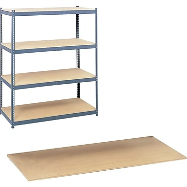 Safco® Archival Shelving, Particle Board Shelves, 4/Pack