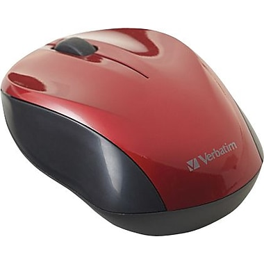 Verbatim Nano Wireless Notebook Optical Mouse - Red