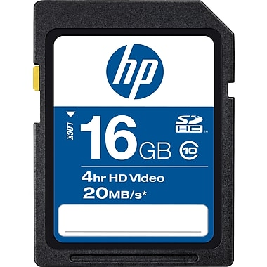 HP 16GB High Speed SDHC Class 10 Flash Memory Card