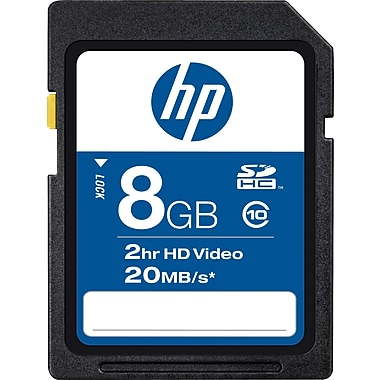 HP High Speed SDHC Class 10 Flash Memory Cards