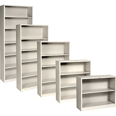HON® Brigade™ Metal Bookcases, Putty