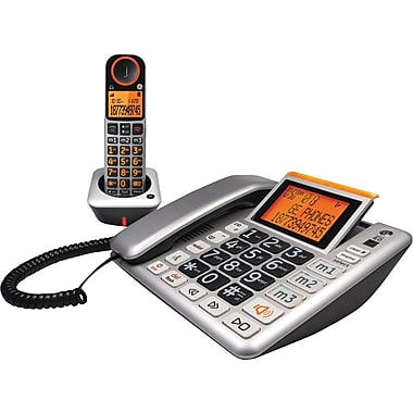 GE 30544EE2 DECT 6.0 Corded/Cordless Amplified Speakerphone with Digital Answering System