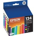 Epson 124 Black and Color Ink Cartridges (T124120-BCS), 4/Pack