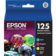 Epson 125 Black and Color Ink Cartridges (T125120-BCS), Standard Yield 4/Pack