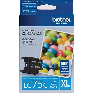 Brother – Cartouche d'encre cyan LC75C, haut rendement