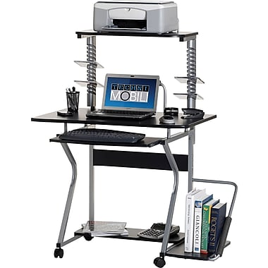 TechniMobili® Compact Mobile Computer Workstation, Graphite