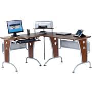 TechniMobili® Mahogany L-Desk