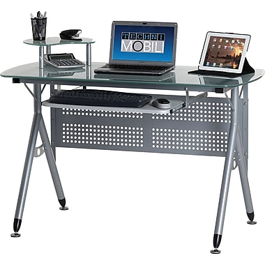 Techni Mobili RTA-3784 Computer Desk, Clear