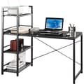 TechniMobili® Deluxe Steel-Framed Glass Top Desk and Bookcase