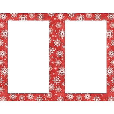 Great Papers® Holiday Invitations Snowy Flakes 2Up Inv , MultiPack