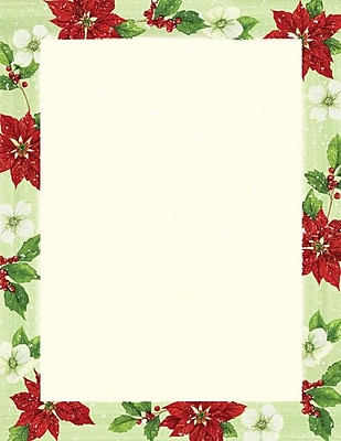 Great Papers Holiday Stationery Poinsettia Magnolia , 80/Count 401066