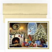 Great Papers® Not a Creature Stirring Holiday Card with White Gold Foil Envelopes, 18/Pack