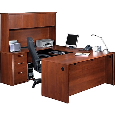 Bestar Embassy U-Workstation with Hutch